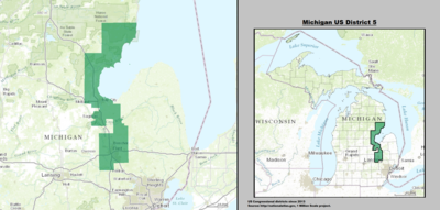 Michigan's 5th congressional district - since January 3, 2013.