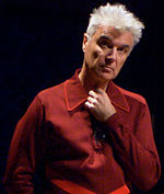 Photo of David Byrne at the 2006 Future of Music Policy Summit in Montreal.