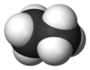 Spacefill model of ethane