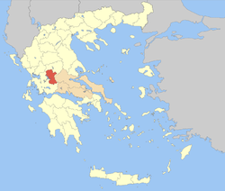 Evrytania within Greece