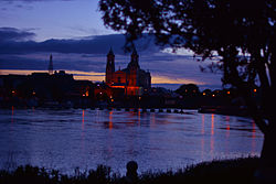 The River Shannon and the Church of Ss Peter and Paul.