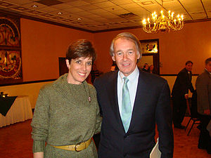 At an event with U.S. Representative Ed Markey in 2008.
