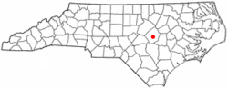 Location of Smithfield, North Carolina
