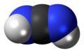 Space-filling model of the cyanamide molecule, diimide tautomer