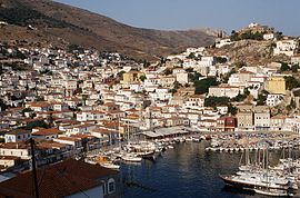 View of Hydra town.