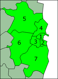 Numbered map of the Greater Dublin Area