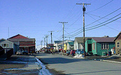 Steadman Street facing North from Front Street. Nome in May 2002