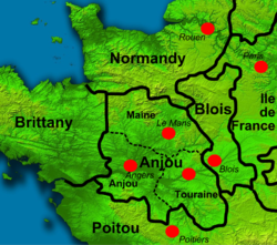 Colour map of Northern France at time of Stephen's birth