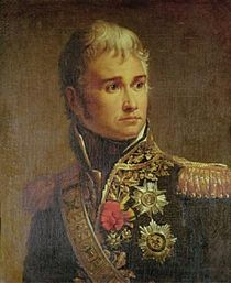Portrait of a light-haired Lannes in marshal's uniform with decorations