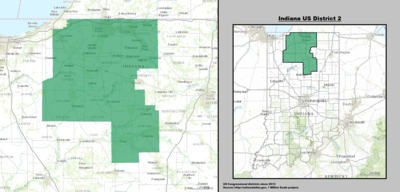 Indiana's 2nd congressional district - since January 3, 2013.