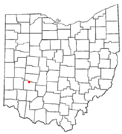 Location of Yellow Springs, Ohio