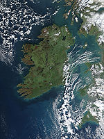 Satellite image of Ireland