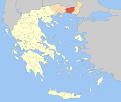 Rhodope within Greece