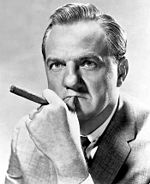 Black and white publicity photo of Karl Malden from the 1950s.