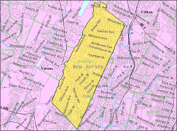 Census Bureau map of Montclair, New Jersey