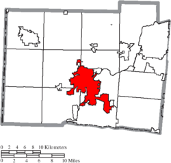 Location of Hamilton in Butler County