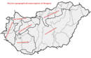 Physico-geographical mesoregions of Hungary