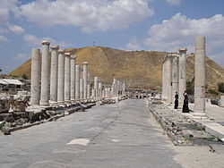 Roman Cardo in Beit She'an National Park