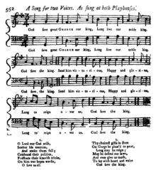 Sheet music of God Save the Queen