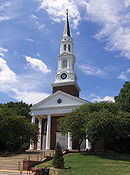 Memorial Chapel at UMCP, front view off-center, August 21, 2006.jpg