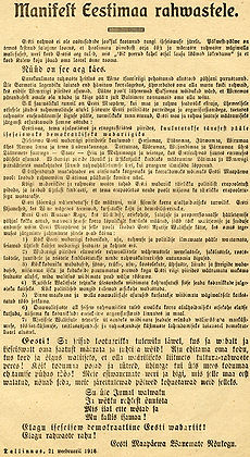 newspaper clipping of Estonian Declaration of Independence