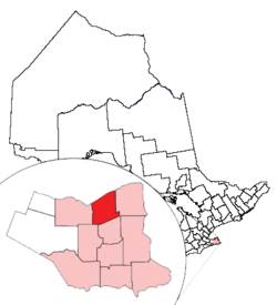 Location of St. Catharines and its census metropolitan area in Ontario