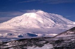 Mount Erebus on Ross Island. Credit: USGS