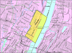 Census Bureau map of Englewood Cliffs, New Jersey