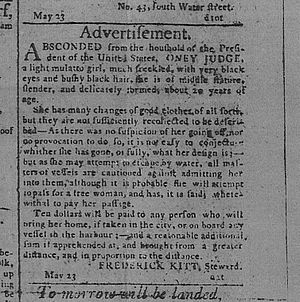 """Runaway Advertisement,"" The Pennsylvania Gazette, May 24, 1796."