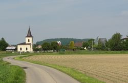 Lutheran cemetery and church