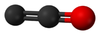 Ball and stick model of dicarbon monoxide