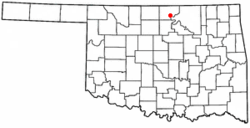 Location of Ponca City, Oklahoma