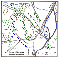 Battle of Pultusk about noon