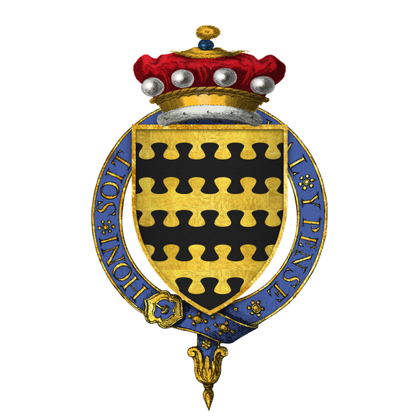 File:Coat of arms of Sir Charles Blount, 8th Baron Mountjoy, KG.png