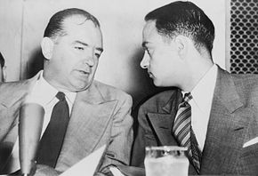 McCarthy and Cohn during the hearings