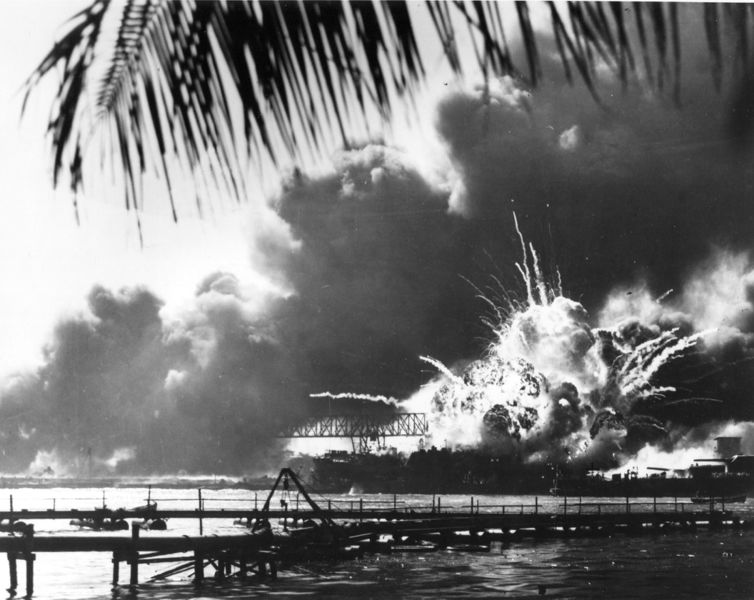 File:US Shaw exploding in Pearl Harbor.jpg