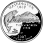 Washington quarter dollar coin