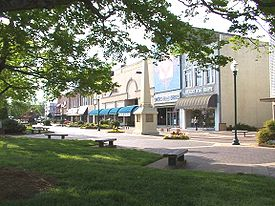 Union Square, downtown Hickory