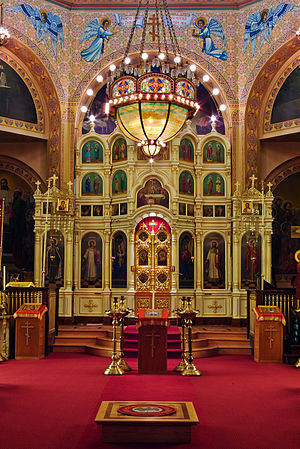 Iconostasis at Holy Trinity Cathedral (Chicago, Illinois)
