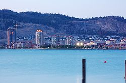 Downtown Kelowna and Cultural District from West Kelowna