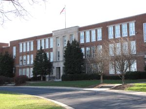 North façade of Waynesboro High School