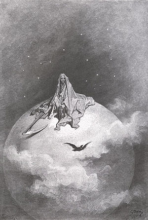 "An Illustration of Poe's ""The Raven"" by Gustav Dore"