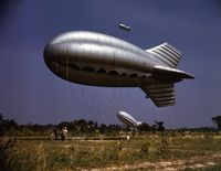 Barrage balloon at Parris Island in May 1942