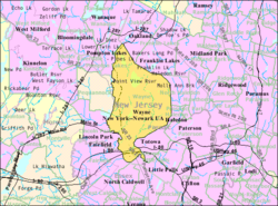 Census Bureau map of Wayne, New Jersey