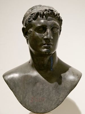 A bust depicting Ptolemy II Philadelphus