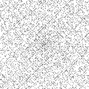 A lot of dots, but forming diagonal lines