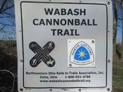Wabash cannonball trail waymark in fulton county ohio.JPG