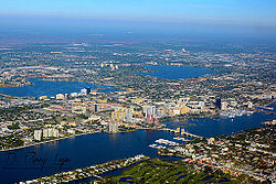 West Palm Beach Aerial November 2014