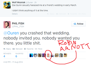 """Exchange between Wolf Wozniak and Phil Fish"""