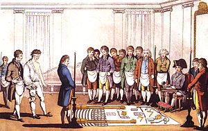 Masonic initiation, Paris, 1745